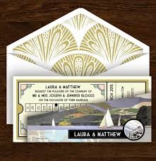 wordings art deco wedding invitations etsy with black and gold