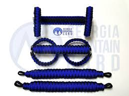 blue jeep 2 door paracord grab handles set headrest or rear sound bar jeep jk 2