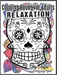 coloring books for adults relaxation sugar skull designs dia de