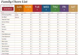 Chore Sheet Template Sle Chart Templates Household Chore Chart Template Free
