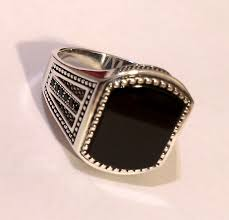 mens ring turkish jewelry 925 sterling silver black onyx men s ring