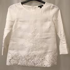 linen blouses 76 j crew tops j crew embroidered linen blouse top sz 0