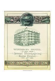 hotel st paul 1883 thanksgiving menu menu