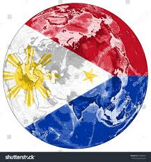Philippines Map World by World Map Depiction Flag Philippines Stock Illustration 523380352