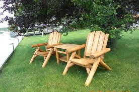 Cedar Outdoor Log Furniture Tables Chairs More - Patio furniture made in usa