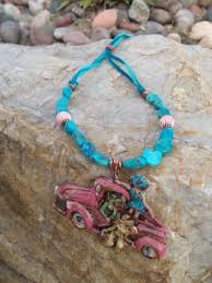 pink turquoise necklace images Heart of a cowgirl turquoise pick up truck cowgirl necklace jpg
