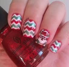 the clockwise nail polish chevron u0026 santa christmas sweater nails