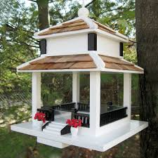 shop home bazaar birds of a feather wood platform bird feeder at