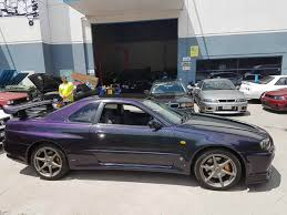 nissan purple bnr34 001571 lv4 midnight purple ii gtr registry forums