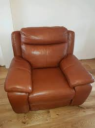 Electric Recliner Armchair Brand New Dfs Octavious Leather Electric Recliner Armchair In