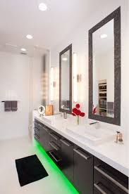 new creative bathroom sinks using led lighting in interior home designs