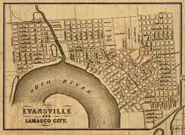 Lafayette Indiana Map Historic Evansville Wabash U0026 Erie Canal