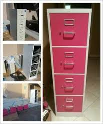 Pink Filing Cabinet File Cabinet I Spray Painted An Old Metal Filing Cabinet And Then