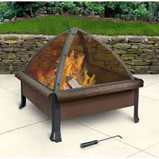 square fire pits designs patio wood burning fire pit for wooden deck wood burning fire