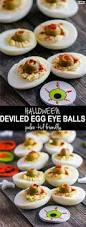 paleo deviled egg eyeballs and spooky snacks