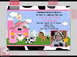 diy farm birthday party invitation decorating ideas youtube