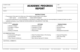 academic progress report template academic phlet template
