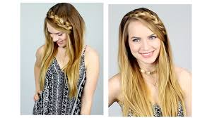 quick braided half up hairstyle for back to youtube