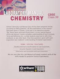 cbse laboratory manual chemistry class 12th experiments projects