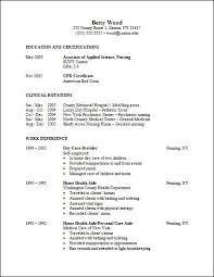 sample resume for nursing student best resume collection