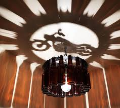 Harley Home Decor motorcycle bottle light chandelier gift harley