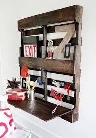 Wall Desk Ideas Fold Up Pallet Desk Thistlewood Farm