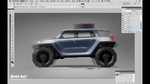 sketch that sketching suv side view in photoshop youtube