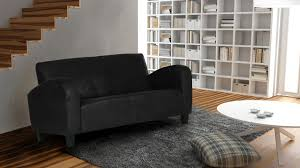 canap 2 places cuir noir canapé 2 places microfibre aspect cuir vieilli wigam mobilier moss