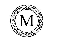 monogram letter monogram letter m clip at clker vector clip online