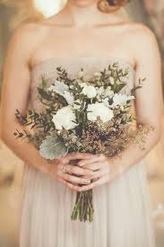 simple wedding bouquets 11 perfectly pretty fall wedding bouquets dusty miller grasses