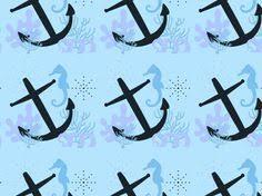 Nautical Themed Pashmina - anchors away