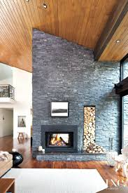 modern fireplace stone veneer fireplaces contemporary designs