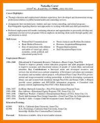Employment History On Resume 7 Volunteer Experience On Resume Example Mbta Online