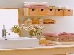 diy bathroom shelving ideas white polished oak wood closet