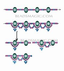 beading pattern necklace images 190 best beading netting images beaded jewelry jpg