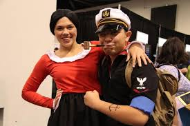 Popeye Olive Oyl Halloween Costumes Famous Couples Costumes