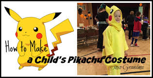 halloween costumes for grandma xoxo grandma how to make a child u0027s pikachu costume
