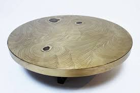 West Elm Etched Granite Coffee Table Etched Brass Coffee Table With Agate Inlays By Fernand Dresse