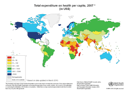 Health Map What Country Spends The Most And Least On Health Care Per Person