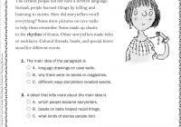 free printable second grade reading comprehension worksheets