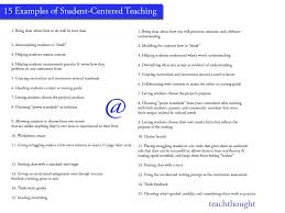 15 examples of student centered teaching