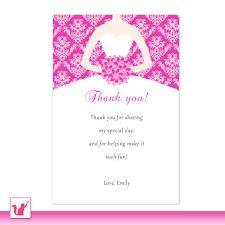 Gift Card Wedding Shower Invitation Wording Thank You Card Best Thank You Card Bridal Shower To Wording