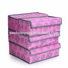 Underwear Organizer Newest 4 Drawers Underwear Organizer Storage Box Non Woven Fabric