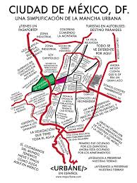 Map Mexico City by Mexico City Neighborhood Culture Map U2013 Urbane Map Store