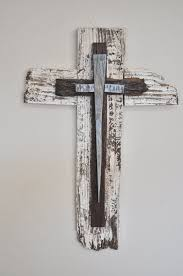 rustic crosses baby blue rustic wood cross great for boys by heartifactsgallery