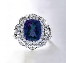 amethyst diamond engagement ring sapphire studios u0027liberty u0027 alexandrite and diamond white gold