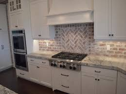 brick kitchen backsplash kitchen design rustic backsplash brick tile backsplash white