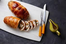 stuffed turkey breast with butternut squash kale and sausage