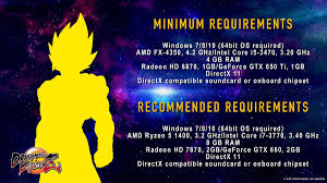 pubg pc requirements dragon ball fighterz for pc system requirements specs and