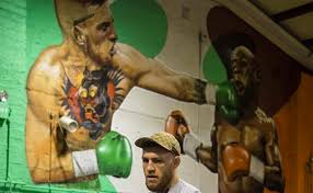 Gym Wall Murals Conor Mcgregor Has Giant Mural Of Himself Knocking Out Floyd